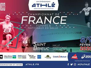 Championnats de France Espoirs et Nationaux en salle 2020