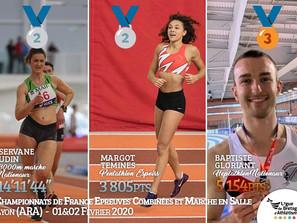 Championnats de France Epreuves Combinées et Marche en salle 2020