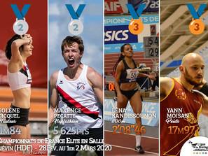 Championnats de France Elite en salle 2020 : 4 médailles pour la Bretagne