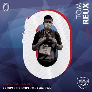 Tom Reux en équipe de France