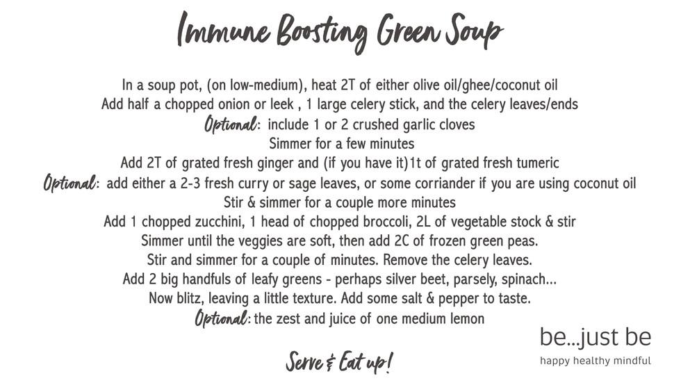 Immune boosting Green Soup