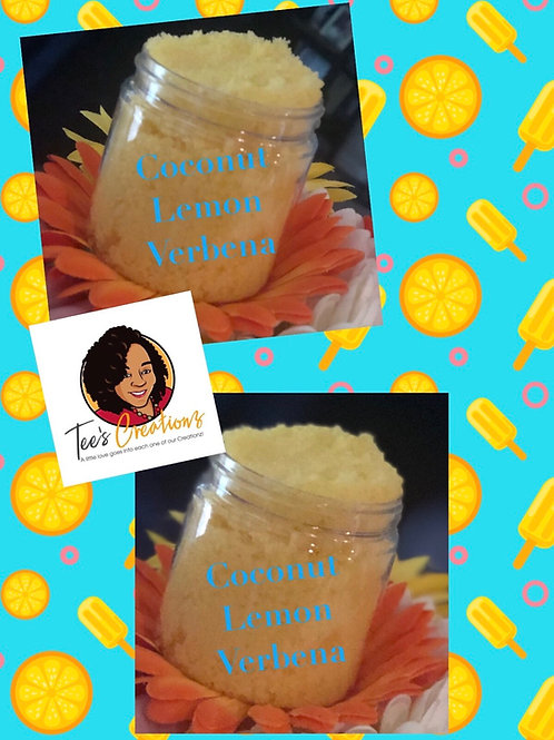 Coconut Lemon Verbena Sugar Scrubs-4 oz
