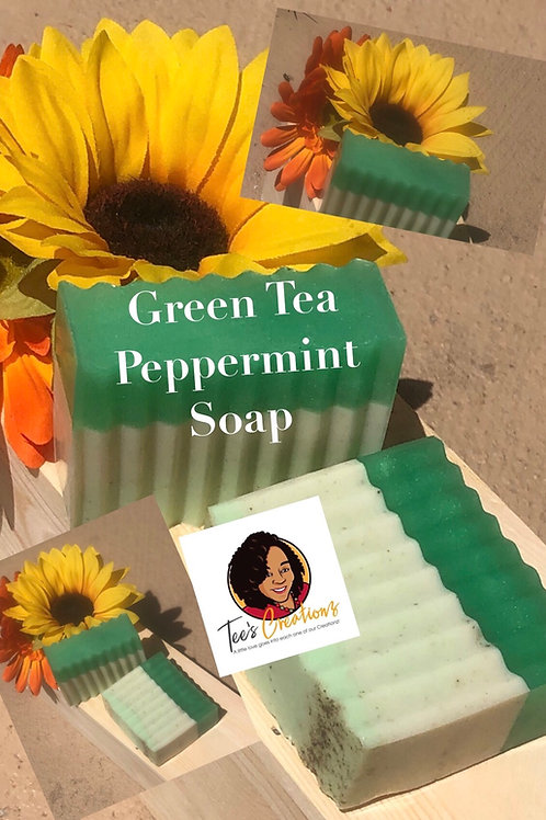 Green Tea Peppermint Soap