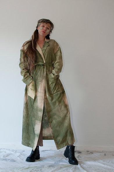 Coffee and Nettle Long Summer Jacket