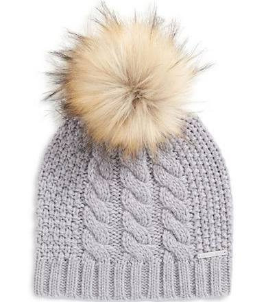 A hat with FauxFur Top