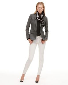 white skinny jeans and jacket