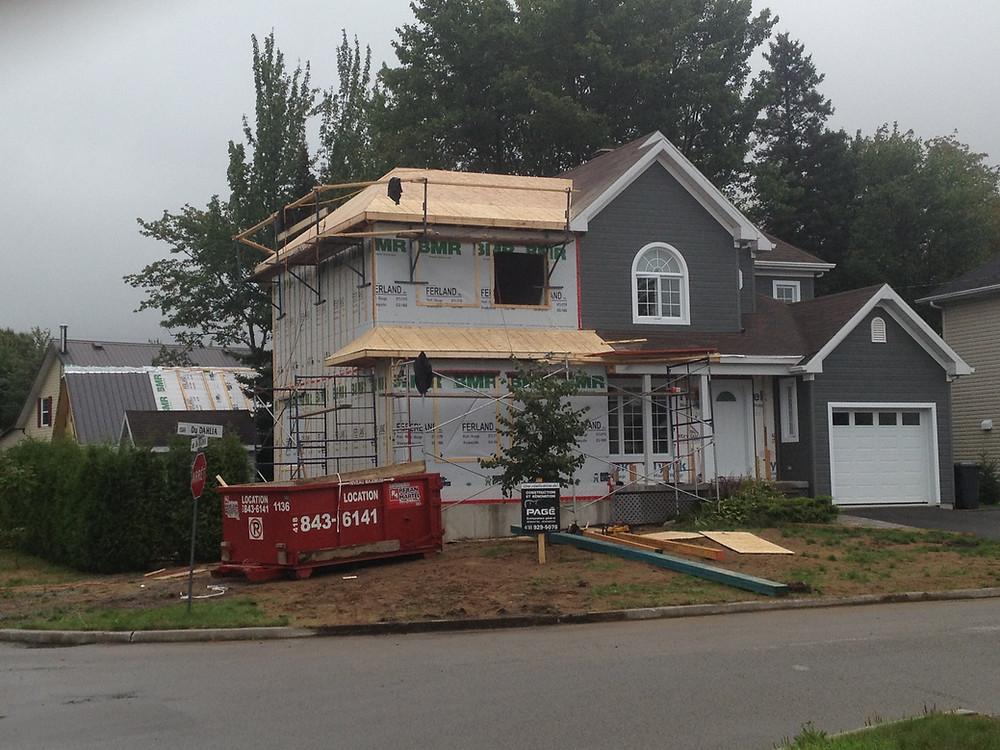 Construction Pagé | Agrandissement maison | Revêtement extérieur | Pont-Rouge, Québec