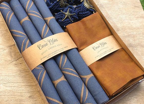 Kit mesa posta Blue Jeans - 4 lugares