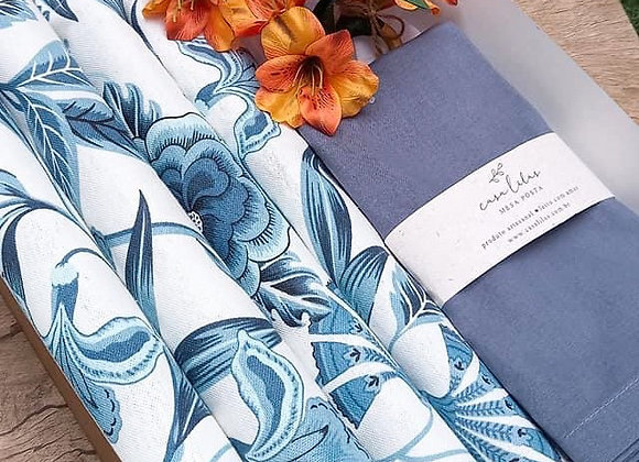Kit mesa posta Blue floral