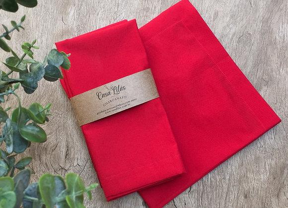 Kit com 4 guardanapos vermelho