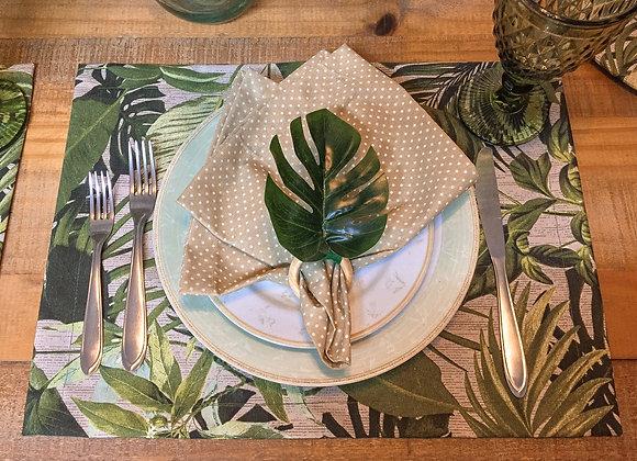 Kit mesa posta Tropical - 6 lugares