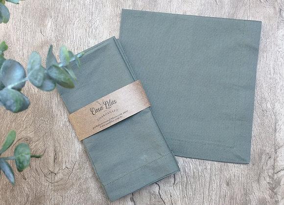 Kit com 4 guardanapos verde musgo