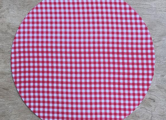 Capa para americano redondo Xadrez vermelho