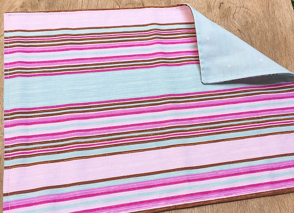 Lugar americano candy color stripes