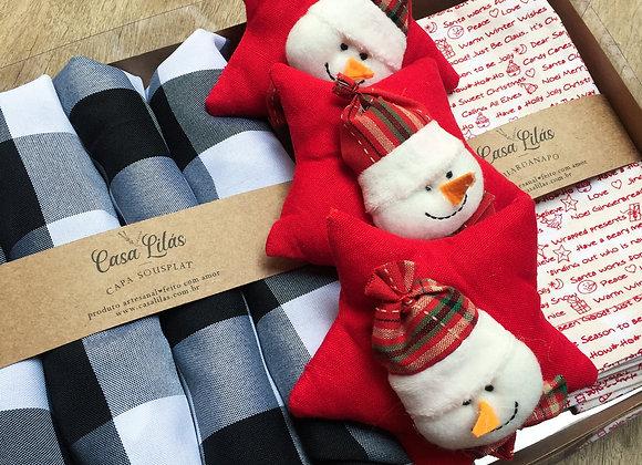 Kit mesa posta natal - boneco de neve