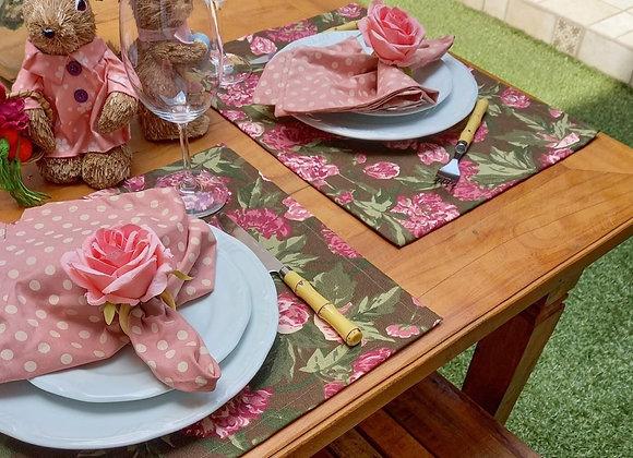 Kit mesa posta Floral Chocolate