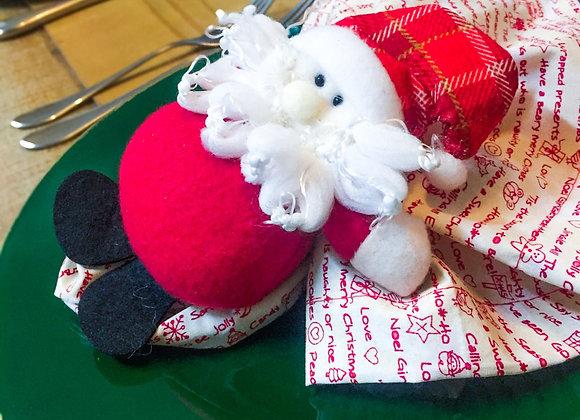 Kit mesa posta natal com sousplat - 2 lugares