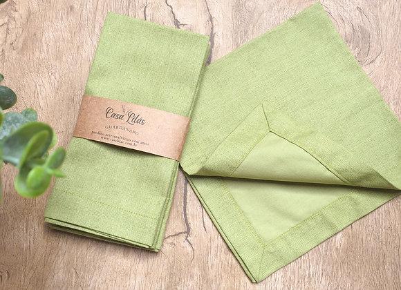 Kit com 4 guardanapos verde
