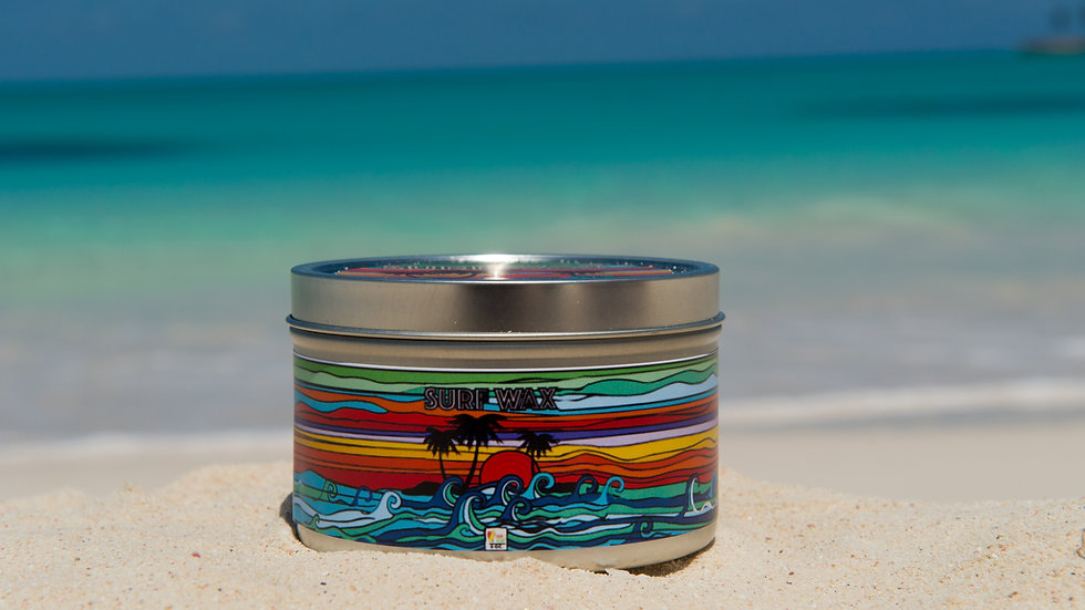 Sand and Heart Surf Wax Candle