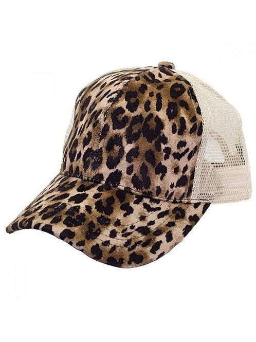 CC Leopard Ponytail Cap