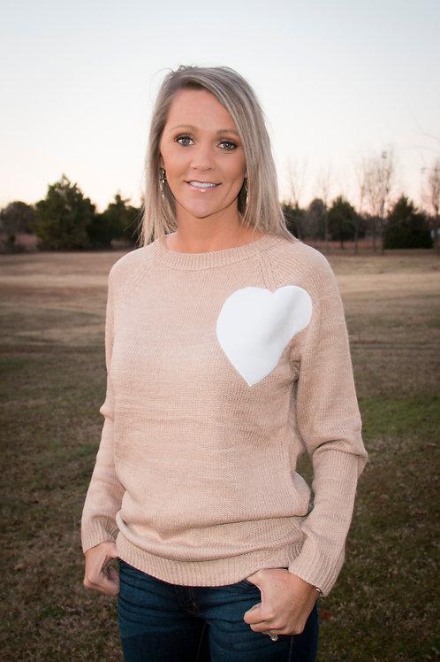 Tan I Heart You Sweater