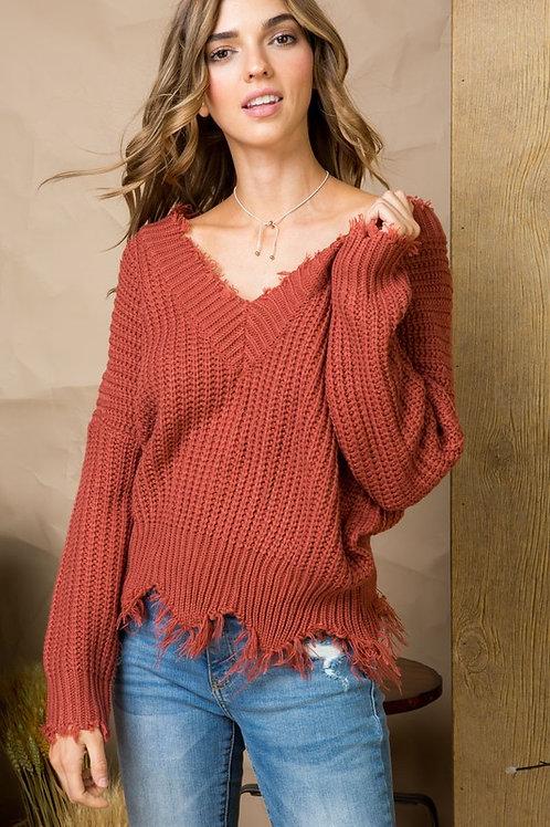 Fray Away Sweater