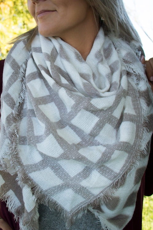 Two Tone Square Scarf