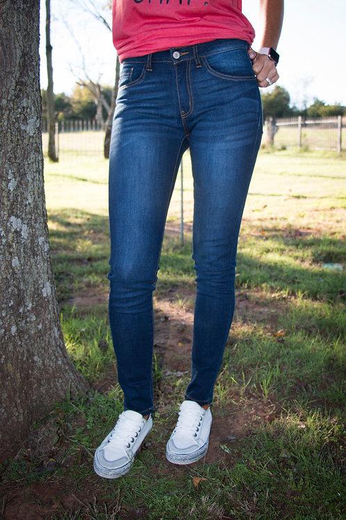 Kan Can Dark Blue Skinny Jeans
