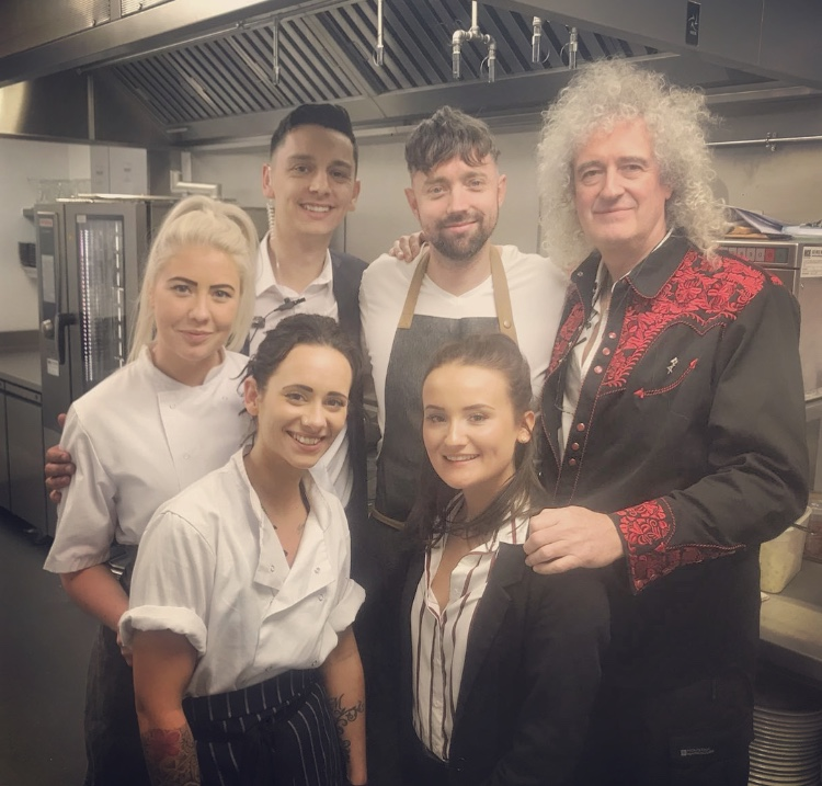 Cooking for Brian May - Opening night of Tyrells _ Southamptons Nuffield Theatre_