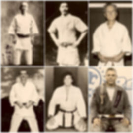 Men and Jiu Jitsu practitioners represent Jeff Morris's line of Jiu Jitsu Masters