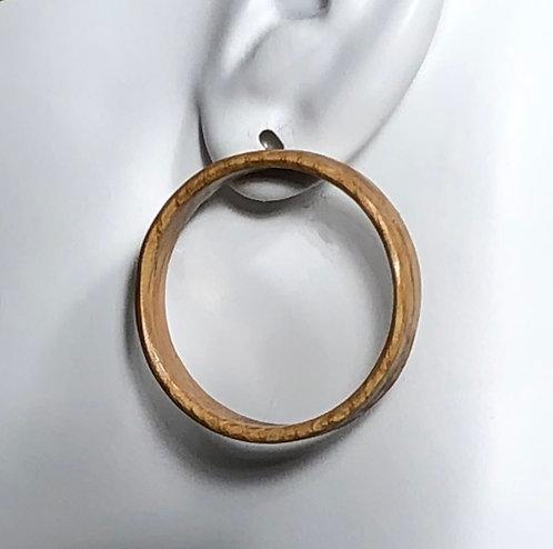 Wine Barrel Post Earrings - Deep Rings