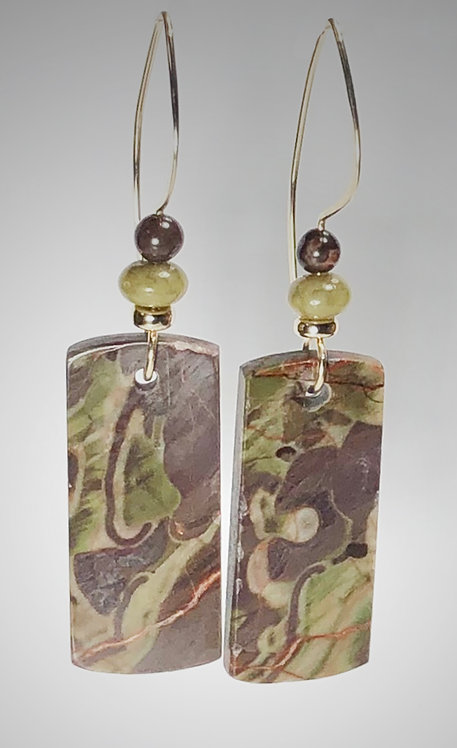 cherry creek jasper gemstone earrings