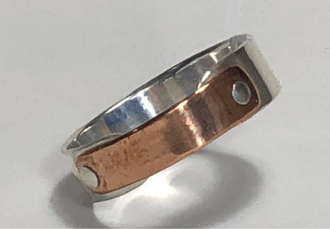 Copper & sterling ring