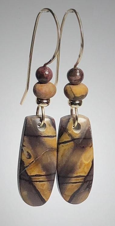cherry creek jasper gemsone earrings