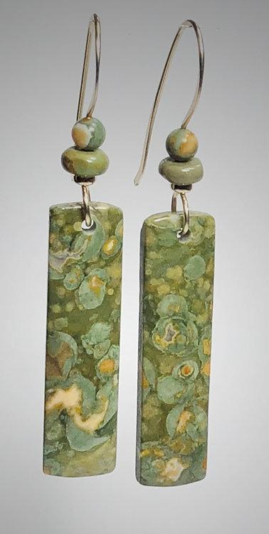 rhyolite gemstone earrings