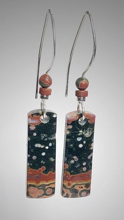 ocean chalcedony gemstone earrings