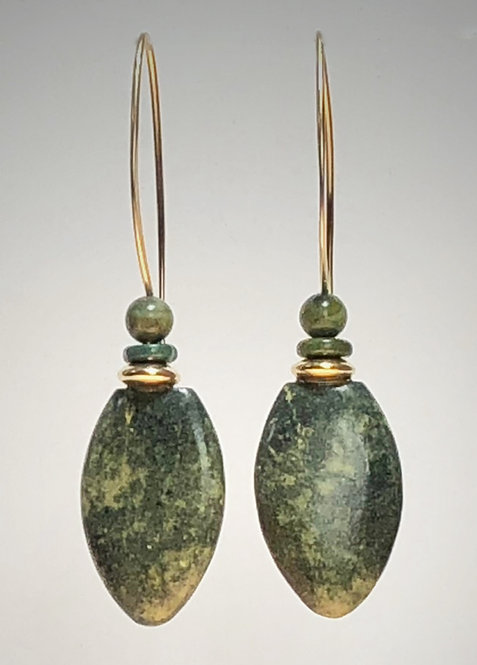 hand cut napa jade gemstone earrings