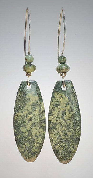 hand cut napa jade gemstone earrings