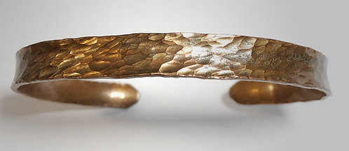 hand hammered copper cuff bracelet
