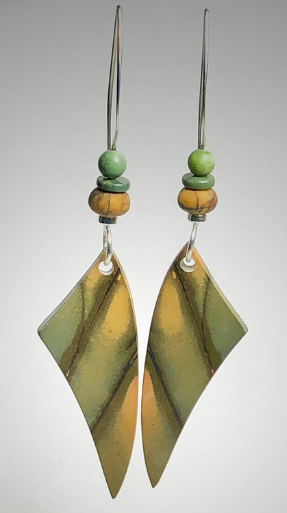 cherry creek jasper gemstone earrings