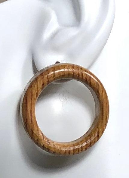 Chunky Wine Barrel Post Earrings