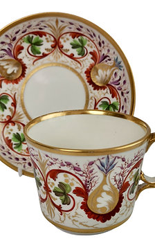 Derby breakfast coffee cup, Regency pattern ca 1800