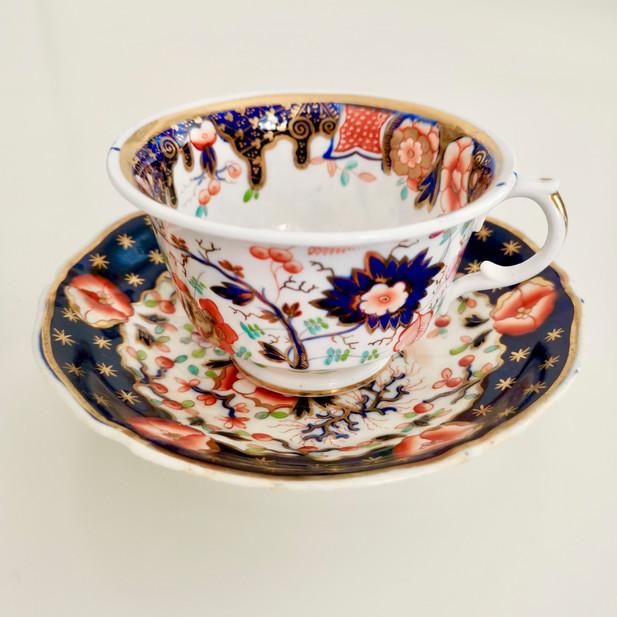 Staffordshire mix and match Imari teacup