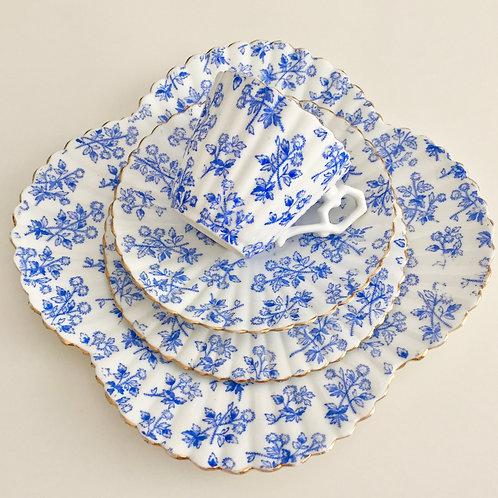 Rare teacup quartet, Thistle pattern, Wileman 1889