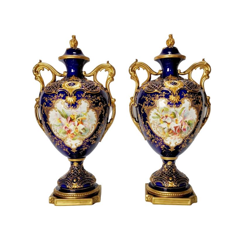 Royal Worcester vases Roberts