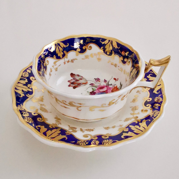 Ridgway teacup and saucer, ca 1825