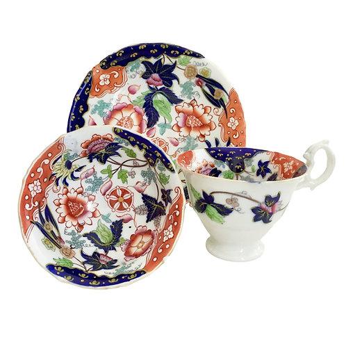 Tea/coffee cup trio, Samuel Alcock ca 1840