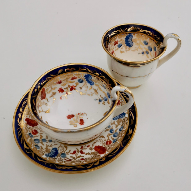 Coalport trio, Empire shape ca 1815