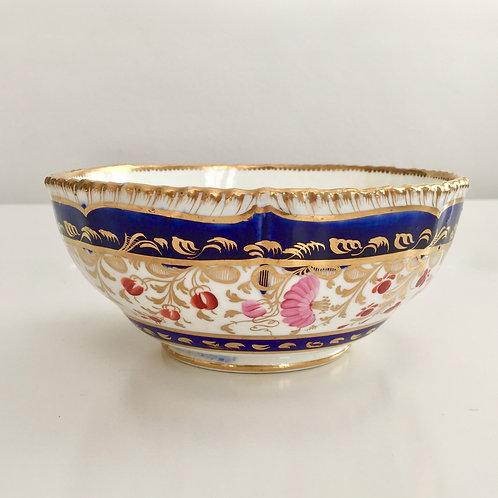 Slop bowl, Coalport gadrooned rim, 1820-1825