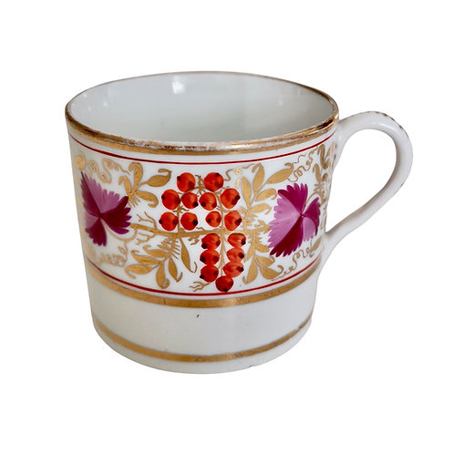 Coffee can orphan, red and purple vines, Coalport Thomas Rose ca 1805 (2)
